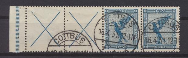 Deutsches Reich Flugpost Zusammendruck RL 15.1 gestempelt Cottbus KatWert 900,00 0
