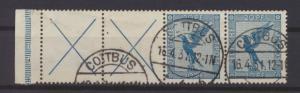 Deutsches Reich Flugpost Zusammendruck RL 15.1 gestempelt Cottbus KatWert 900,00