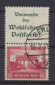 Deutsches Reich Nothilfe Bauwerke Zusammendruck S 84 gestempelt Kat.Wert 150,00