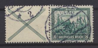 Deutsches Reich Nothilfe Bauwerke Zusammendruck W 37 gestempelt Kat.Wert 150,00 0