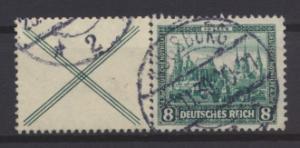 Deutsches Reich Nothilfe Bauwerke Zusammendruck W 37 gestempelt Kat.Wert 150,00