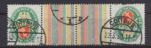 Deutsches Reich Zusammendruck Nothilfe Wappen KZ 13 sauber gezähnt  Kat. 150,-