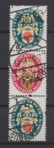 Deutsches Reich Zusammendruck Nothilfe Wappen S 69 sauber gestempelt Kat. 90,00