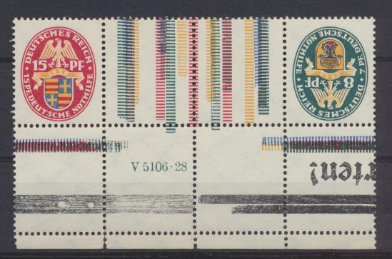 Deutsches Zusammendruck Nothilfe Wappen KZ 10 HAN postfrisch MNH Kat.250,00 0