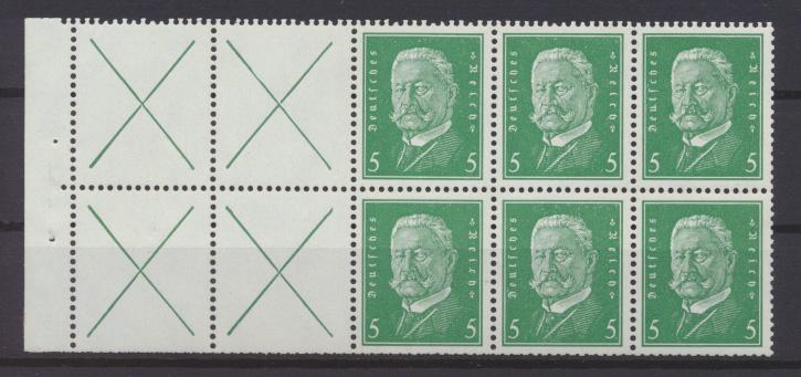 Deutsches Zusammendruck Reichspräsidenten HB 57 B Luxus ungebraucht Kat. 110,00 0