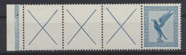 Deutsches Reich Zusammendruck Flugpost Adler RL 5.2 postfrisch ungebr. Kat 160,- 0