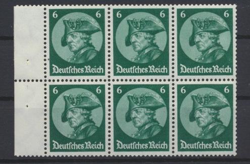 D. Reich Zusammendruck Fridericus Heftchenblatt postfrisch HB 74 A KatWert 120,- 0