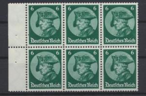 D. Reich Zusammendruck Fridericus Heftchenblatt postfrisch HB 74 A KatWert 120,-