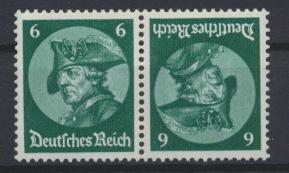 Deutsches Reich Zusammendruck Fridericus K 17 ungbraucht Kat.-Wert 24,00