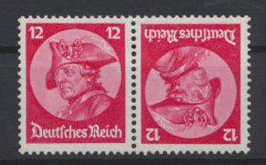 Deutsches Reich Zusammendruck Fridericus Kehrdruck K 18 postfrisch Kat. 40,00