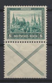 Deutsches Reich Zusammendruck Nothilfe Bauten S 80 postfrisch Kat. 150,00 0