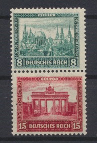 Deutsches Reich Zusammendruck Nothilfe Bauten S 76 postfrisch Kat. 15,00 0