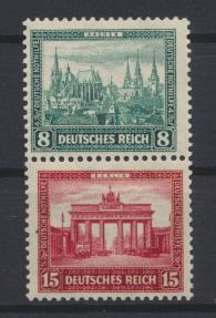 Deutsches Reich Zusammendruck Nothilfe Bauten S 76 postfrisch Kat. 15,00