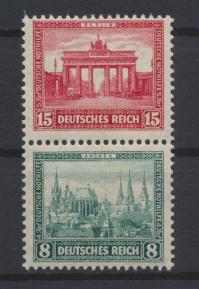 Deutsches Reich Zusammendruck Nothilfe Bauten S 78 postfrisch Kat.-Wert 50,00