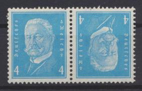 Deutsches Reich Zusammendruck Reichspräsidenten K 9 postfrisch Kat.-Wert 50,00