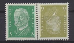 Deutsches Reich Zusammendruck Reichspräsidenten K 11 postfrisch Kat.-Wert 50,00