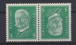 Deutsches Reich Zusammendruck Reichspräsidenten K 10 postfrisch Kat.-Wert 40,00