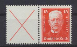 Deutsches Reich Zusammendruck Reichspräsidenten W 25 postfrisch Kat.-Wert 180,00 0
