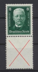 Deutsches Reich Zusammendruck Reichspräsidenten S 37 postfrisch Kat.-Wert 180,00