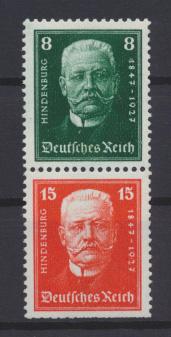 Deutsches Reich Zusammendruck Reichspräsidenten S 36 postfrisch Kat.-Wert 40,00 0