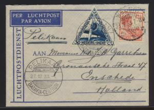 Flugpost air mail Niederländisch Indien Erstflug Batavia Amsterdam Weleri nach