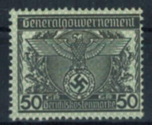 D Reich Besetzung Vignette Generalgouvernement 50 Gr Gerichtskostenmarke postfr.