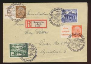 D. Reich R Brief Zusammendruck + Galopprennen Kameradschaft 4x schöner SST