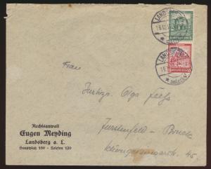 Deutsches Reich Brief Zusammendruck Nothilfe S 88 Landsberg Fürstenfeld Bruck