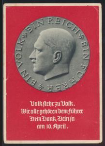 Deutsches Reich Propaganda Ansichtskarte mit 2 Länderfrankatur Österreich Wien