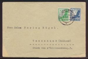 D. Reich Brief MIF Flugpost Steinadler Niedersedlitz nach Wassenaar Niederlande