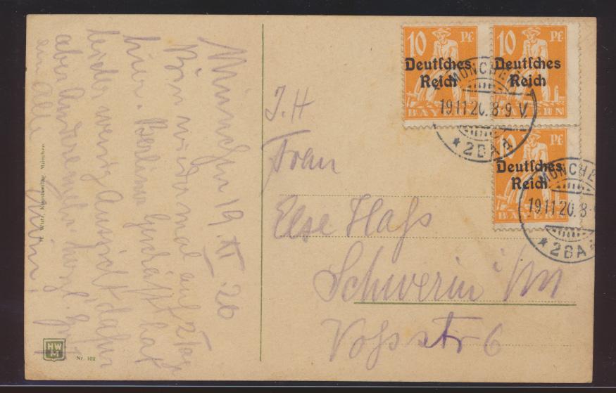 Ansichtskarte München Isaranlage Lukaskirche Deutsches Reich MEF 120 1
