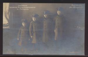 Ansichtskarte Söhne Kronprinzen Zum Besten der Kriegshilfe Feldpost Kiel mit bl.