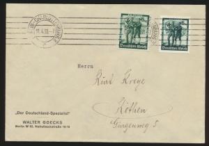 Deutsches Reich Brief MIF 662-3 Berlin Charlottenburg nach Köthen Sachsen-Anhalt