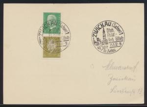 D Reich Brief Karte Zusammendruck S 42 Reichspräsidenten SST Zwickau Gößnitz