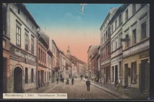 Ansichtskarte Münsterberg Schlesien Patschkauer Straße Gasthaus