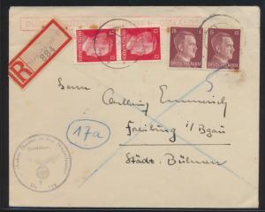 Deutsches Reich Besetzung Dienstpost Niederlande R Brief R Zettel Dienstpost F