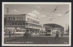 Berlin EF 48 Bauten auf Ansichtskarte Joachimsthaler Str. Bashnhof Zoo Auto