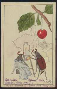 Künstler Ansichtskarte handgemalt sign. M. Rössler Maikäfer Lausanne Schweiz n.