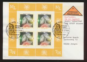 Bund Nachnahme Brief Überweisung MEF 1841 Martin Luther SST Kiel als Viererblock