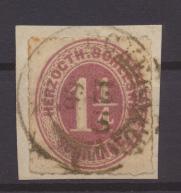Briefmarke Altdeutschland Schleswig Holstein 14 Briefstück K2 Eckernförde