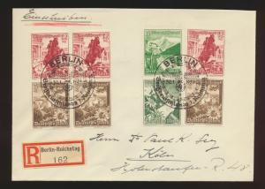 Reich Zusammendruck R Brief selt. SST Berlin 1. Reichstag Viererblock und Paare