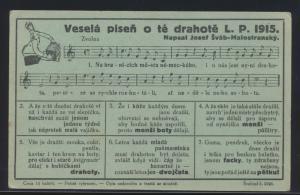 Tschechien Liedkarte Musik Josef Svab-Malostransky Schauspieler 1915