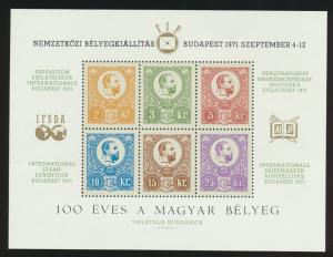 Ungarn IFSDA Sonderblock Philatelie Ausstellung Luxus postfrisch 1971