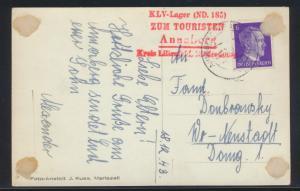 Österreich D. Reich Kinderlandverschickung Annaberg mit selt. ro. L4 KLV Lager