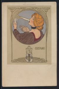 Ansichtskarte Jugendstil Art Nouveau Künstler um 1897 von Fritz Rehm München