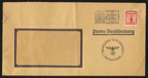 D. Reich Brief Partei Dienstsendung NSDAP mit selt Propaganda Werbestempel Posen