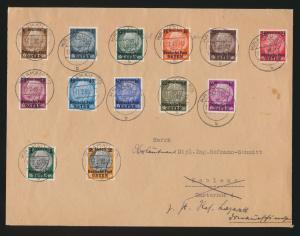 Besetzung Generalgouvernement Brief Satzbrief 1-13 Aufdruck Hindenburg Krakau