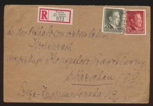 Generalgouvernement R Brief Turka über Sambar Galizien n. Warschau