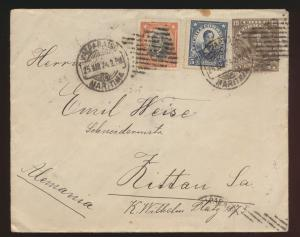 Chile Ganzsache postal stationery cover with to Zittau Germany Saxony 1924