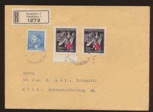 Besetzung Böhmen & Mähren R Brief MIF Pardubitz nach Köln